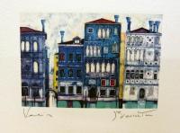 Дома в венеции ночью